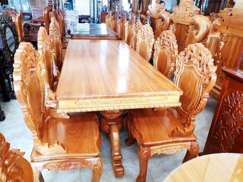 Bộ bàn ăn 6 ghế bàn vuông - Bộ Bàn Ăn