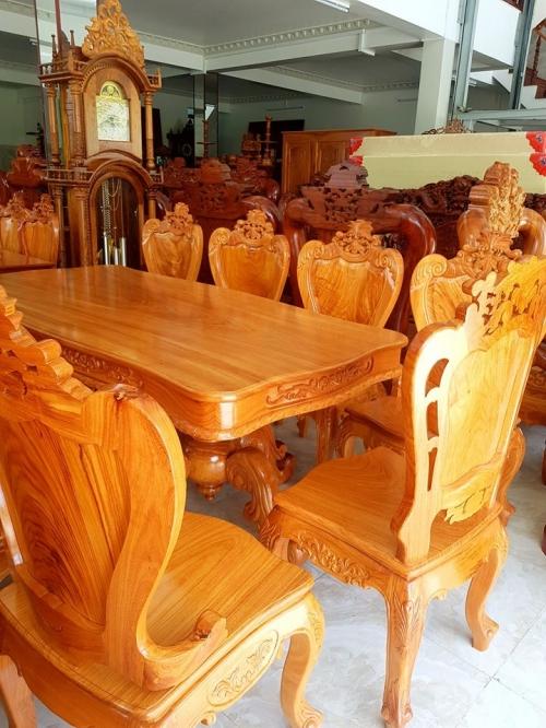 Bộ bàn ăn 8 ghế - Bộ Bàn Ăn