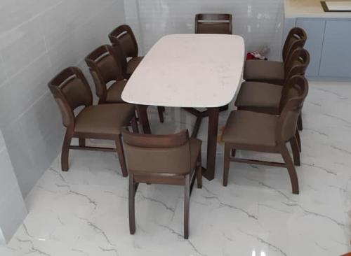 Bộ bàn ăn mặt đá BA1007 - Bộ Bàn Ăn