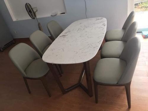 Bộ bàn ăn mặt đá BA1008 - Bộ Bàn Ăn
