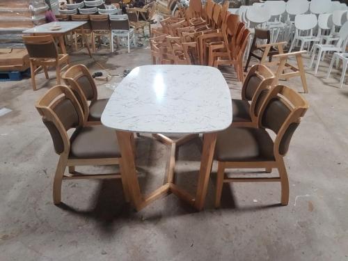 Bộ bàn ăn mặt đá BA1009 - Bộ Bàn Ăn