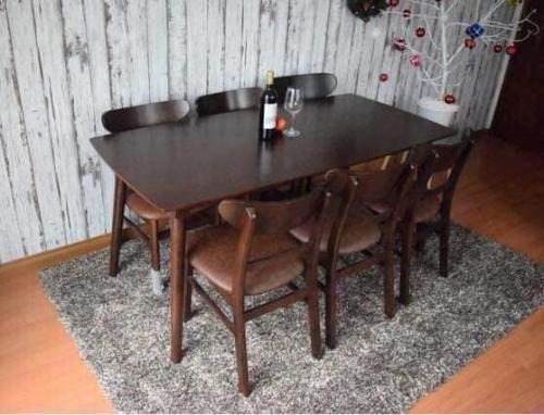 Bộ bàn ăn mặt đá BA1018 - Bộ Bàn Ăn