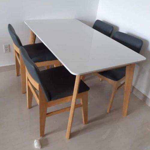 Bộ bàn ăn mặt đá BA1033 - Bộ Bàn Ăn