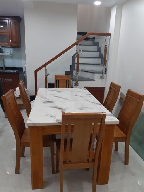 Bộ bàn ăn mặt đá BA1039 - Bộ Bàn Ăn