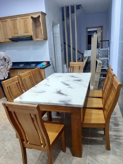 Bộ bàn ăn mặt đá BA1044 - Bộ Bàn Ăn