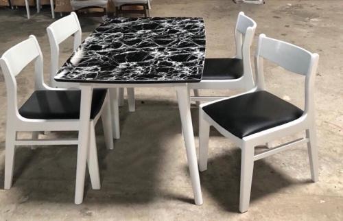 Bộ bàn ăn mặt đá BA1045 - Bộ Bàn Ăn