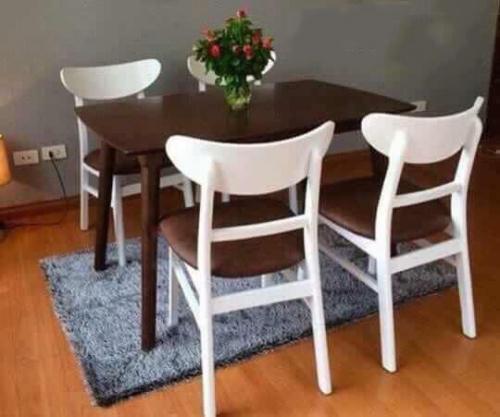 Bộ bàn ăn mặt đá BA1046 - Bộ Bàn Ăn