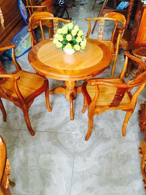 Bộ bàn trà bàn tròn 4 ghế  - Giường ngủ