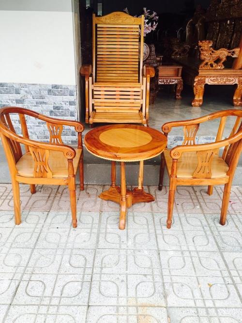 BỘ BÀN TRÀ Gỗ gõ đỏ + căm xe - Bàn Ghế Gỗ Phòng Khách