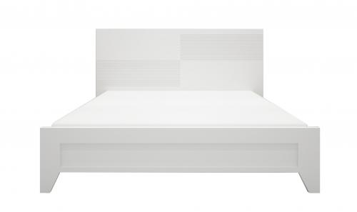 Giường gỗ công nghiệp giá rẻ sơn trắng - Giường ngủ