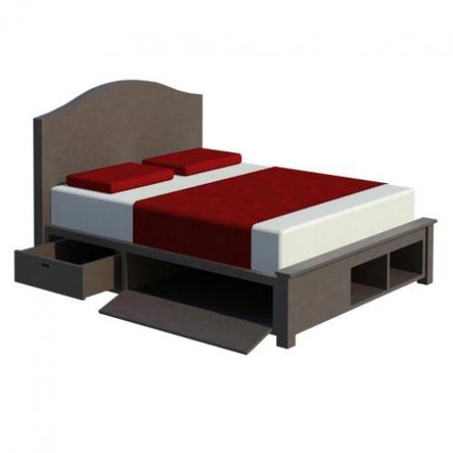 Giường gỗ công nghiệp GN4047 - Giường ngủ