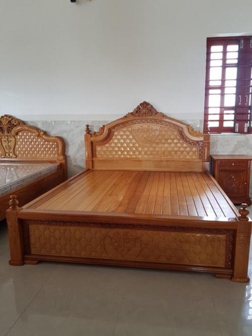 Giường ngủ 1m8 gỗ căm xe - Giường ngủ