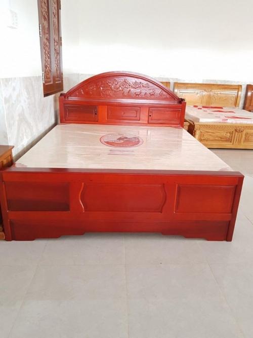 Giường ngủ đầu tròn gỗ tự nhiên - Giường ngủ gỗ tự nhiên