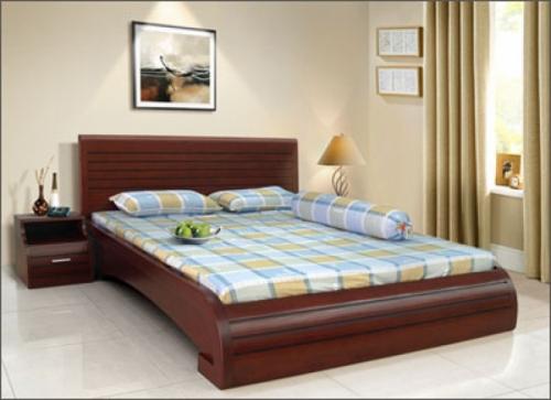 Giường ngủ đuôi cong kiểu nhật GN1007 - Giường ngủ