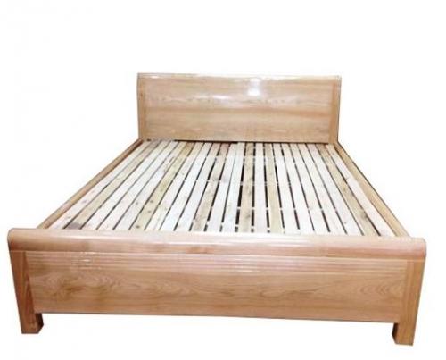 Giường ngủ gỗ sồi kiểu trơn sáng bóng - Giường ngủ gỗ tự nhiên