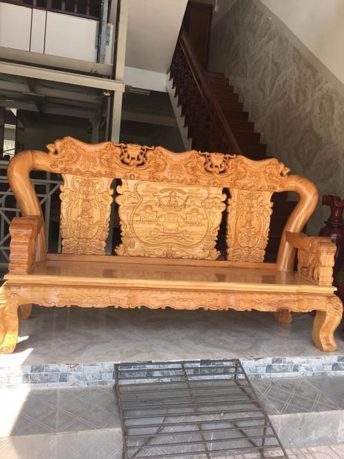 SALON CHẠM VOI TAY 14 - Bàn Ghế Gỗ Phòng Khách