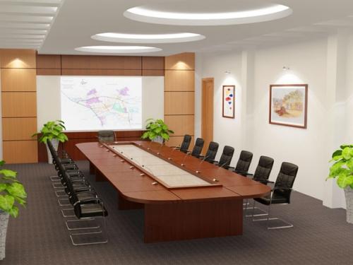 Setup phòng họp sang trọng ấm cúng