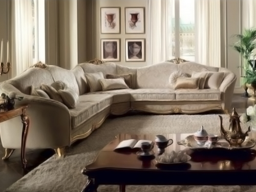 Sofa góc cổ điển SF112-028 - Sofa