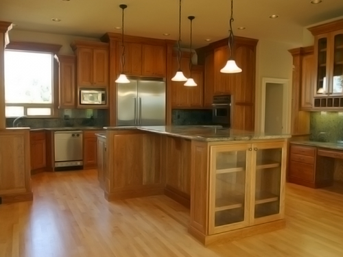 Tủ bếp gỗ sồi TB1201 - Tủ bếp gỗ