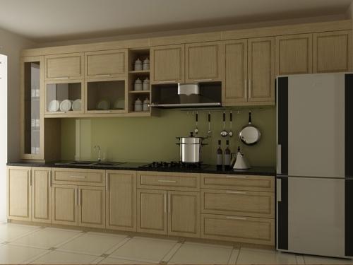Tủ bếp gỗ sồi TB1203 - Tủ bếp gỗ