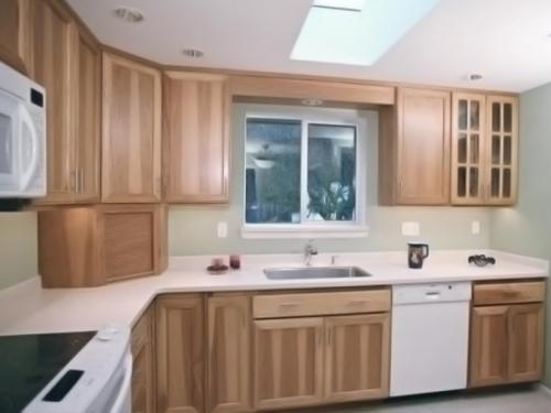 Tủ bếp gỗ sồi TB1205 - Tủ bếp gỗ