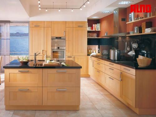 Tủ bếp gỗ sồi TB1207 - Tủ bếp gỗ