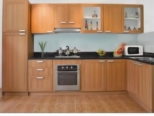 Tủ bếp gỗ sồi TB1209 - Tủ bếp gỗ