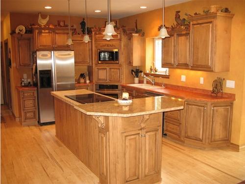 Tủ bếp gỗ sồi TB1313 - Tủ bếp gỗ