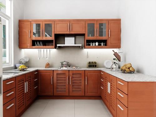 Tủ bếp gỗ tự nhiên xoan đào TB1108 giá rẻ tphcm
