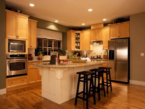Tủ bếp gỗ tự nhiên xoan đào TB1110 giá rẻ tphcm