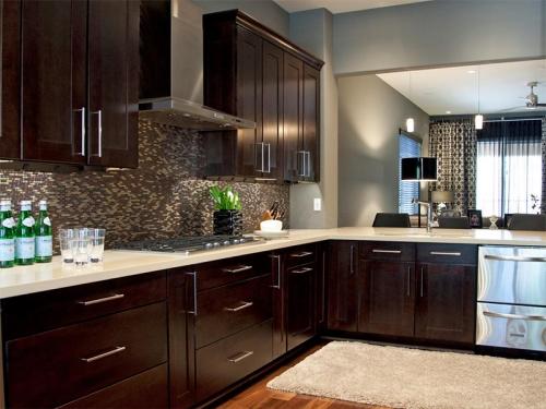 Tủ bếp xoan đào TB1117 - Tủ bếp gỗ