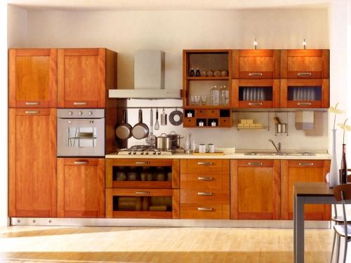 Tủ bếp xoan đào TB1118 - Tủ bếp gỗ