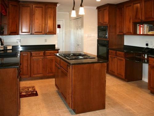 Tủ bếp xoan đào TB1120 - Tủ bếp gỗ