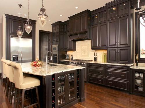 Tủ bếp xoan đào TB1124 - Tủ bếp gỗ
