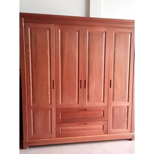 Tủ quần áo 4 cánh gỗ xoan đào - Tủ Quần Áo