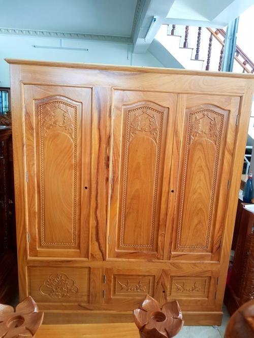 Tủ quần áo gỗ 3 ngăn đẹp giá rẻ - Tủ Quần Áo