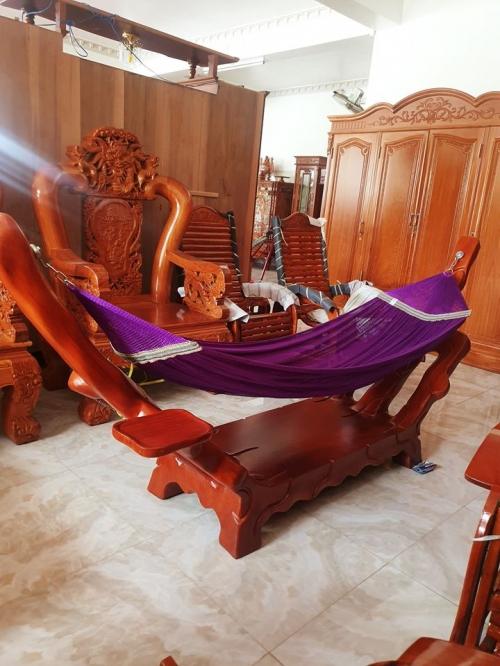 Võng gõ đỏ nguyên khối - Bàn Ghế Gỗ Phòng Khách
